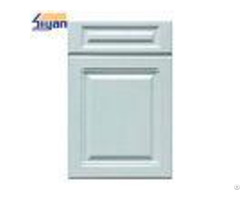 Light Blue Mdf Kitchen Cabinet Doors Pvc Film Surface For Wall Hanging Cabinets