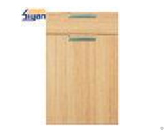 Flat Mdf Kitchen Cabinet Doors Wood Grain With 450 678mm Size Oem Service