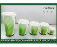 Pla Coated Paper Tea Cups Various Design With Food Grade Ink Printing