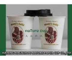 Logo Printed Disposable Single Wall Paper Cups Biodegradable Custom Color