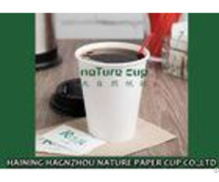 Plain White Compostable Pe Coated Paper Cup Environmental Protection