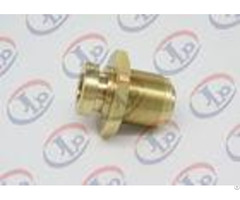 Copper Hexagon Bolt Cnc Machining Parts With Internal And External Thread
