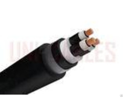 Mdpe 3 Core Armoured Electrical Cable Stranded Copper Conductor Waterblock Semi