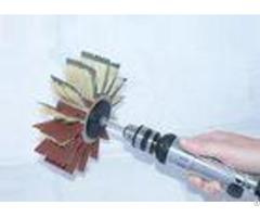 Fiber Bristle Nylon Roller Brush 160mm Od With 120 Grit Sanding Paper