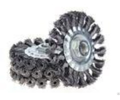 Perfect Rust Removal Twist Knot Wheel Brush 4 Inch Od For Cleaning Spot Welds