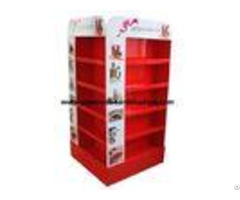 Red Pop Cardboard Display With Glossy Lamination For Christmas Promotional