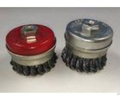 Twist Knotted Wire Cup Brush Strong And Effective For Heavy Duty Cleaning