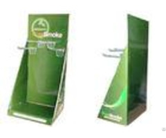 Fashion Green Portable Cardboard Counter Displays Shelfs Encd023 For Hanging Disposed Good