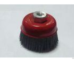 25mm Trim Length Nylon Bristle Cup Brush Coarse Grinding Filament Brushes