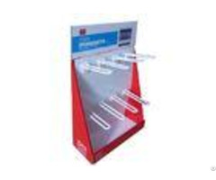 Cardboard Pos Displays Encd028 With Racks For Hanging Brashes In Super Market