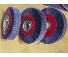 Deburring Gear Circular Abrasive Nylon Wheel Brush 6 Inch Od 90 Mm Middle Plate