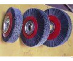 Deburring Gear Circular Abrasive Nylon Wheel Brush 6 Inch Od 90 Mm Middle Plate