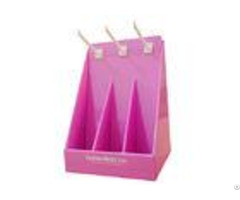 Fashion Pink Countertop Paper Cardboard Counter Displays Encd030 Easy To Assemble