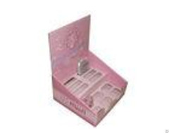 Pink Cute Recycable Cardboard Counter Displays Encd034 Units For Ladies Makeup Tools