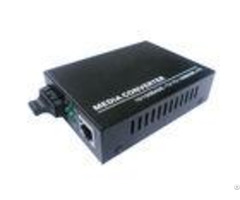 Ce Certification 10m 100m Fiber Optic Media Converter Single Mode 1310nm 20km Sc