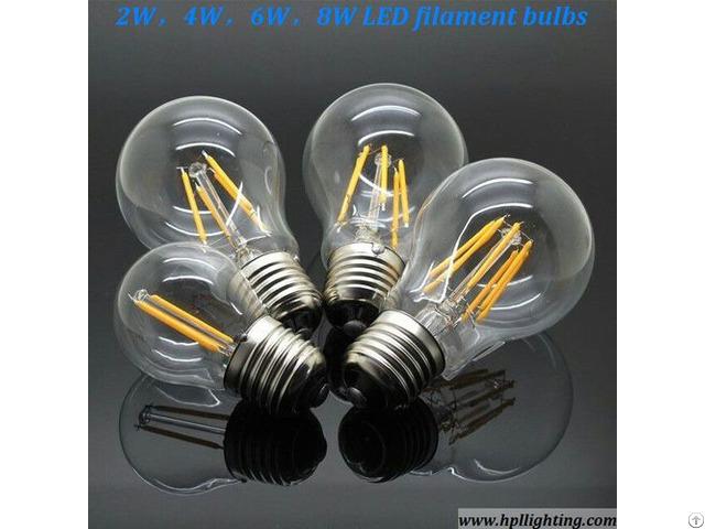 8w E27 Led Filament Bulbs