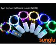 2m 20d 0603 Led Decorative Indoor String Lights Two Button Battery For Holiday