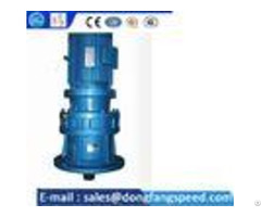 Single Vertical Cycloidal Gear Reducer Steel Or Cast Iron Material