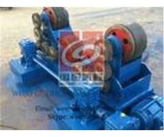 Self Aligning Rotators With Rubber Wheel Tank Turning Rolls France Schneider Inverter