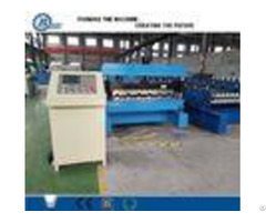 Galvanized Steel Trapezoidal Roofing Roll Forming Machine With Hydraulic Decoiler