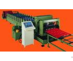 Custom 1200mm Feeding Width Step Tile Roll Forming Machine With Plc Control System
