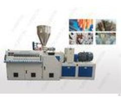 Stable Conical Double Screw Extruder Machine With Chromium Plated Barrel