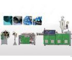 Single Wall Pvc Plastic Corrugated Pipe Extrusion Line With Ring Groove Structure