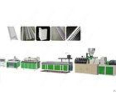 Conical Twin Screw Pvc Profile Extrusion Line Stainless Steel Plastic Corner Production Machine
