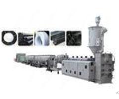 Plc Control Pe Pp Plastic Pipe Extrusion Line Single Screw Extruder Machine