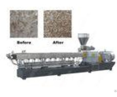 Twin Screw Plastic Recycling Granulator Machine 2 5 4 Mm With Vacuum Exhaust