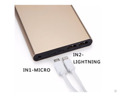 Newest 12000mah Slim Power Bank With Dual Input Output