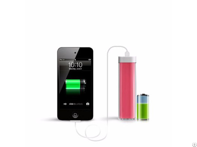 High Quality Lipstick 2600mah Portable Power Bank Charger For Smart Phones