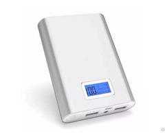 Mobile Phone Charger 10000mah Lcd Screen Power Bank 4pcs 18650 Lithium Battery Inside