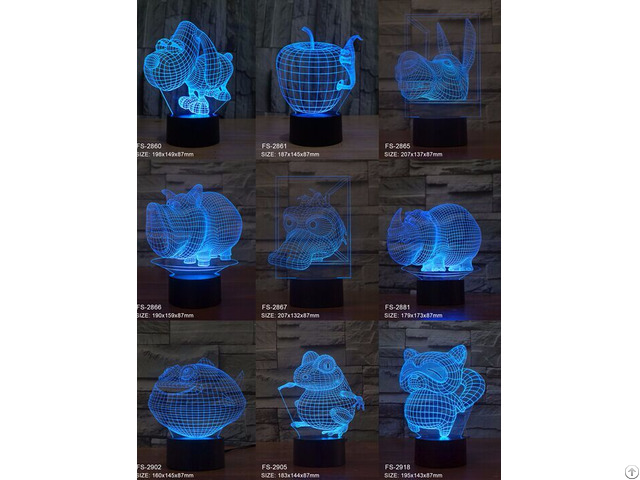 Amazing 3d Illusion Table Lamp And Newest Creative Gift