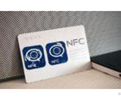 Quick Pass Plastic Nfc Rfid Card White Color With Silkscreen Printing