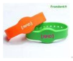 Silicone Rfid Chip Wristband Multi Color Half Round Shape Eco Friendly