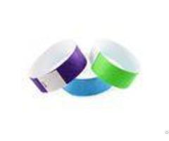 Disposable Paper Rfid Chip Wristband Waterproof Custom Logo Printing