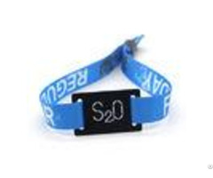 Festival Ticket Disposable Rfid Chip Wristband Glossy Surface Custom Design