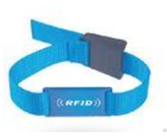Custom Passive Rfid Chip Wristband Woven Nylon For Events Ticketing