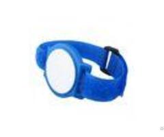 Nylon Strap Ntag213 Rfid Chip Wristband Silkscreen Printing For Swimming Pool