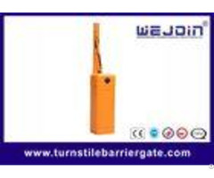 Orange Housing Barrier Gate Arms With Fast Speed Motor And Iron Material