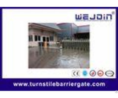 Ac110v 220v Electronic Barrier Gates With Aluminum Alloy Motor And Silver Grey Color Housing