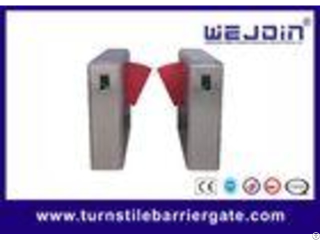 900mm Width Electronic Flap Barrier Gate Pedestrian Automatic Systems Turnstiles