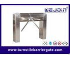 Semi Auto Tripod Entrance Turnstiles Gate With Mechanism Arc Bridge Type
