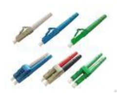 Lc Apc Upc Fiber Optic Cable Connectors Sm Mm Blue Beige With Green Color