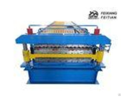 Corrugated Ibr Double Layer Roll Forming Machine Plc Control For Construction