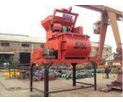 Double Shaft Forced Electric Concrete Mixer Js750 High Efficient With Mn Blade 750l