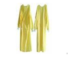 Eo Sterile Non Woven Disposable Patient Gowns Minimum Cross Infection Yellow
