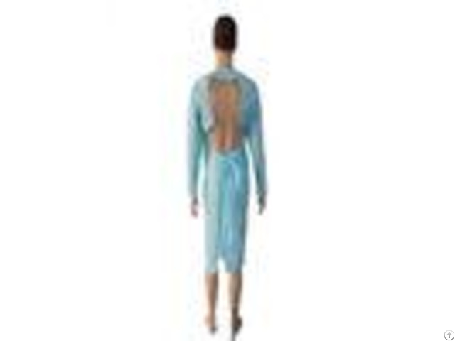 Blue Or Customized Medical Sterile Cpe Disposable Surgical Gowns For ...
