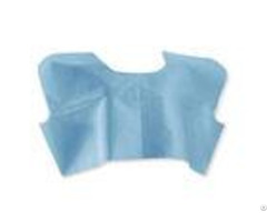 Blue L Disposable Barrier Gowns High Absorbency With Stretchable Waist Tie